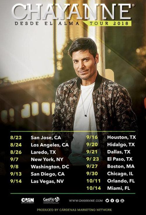 Chayanne+Desde+El+Alma+Tour+2018