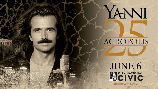 Yanni – Acropolis 25th Anniversary Tour – Wednesday, June