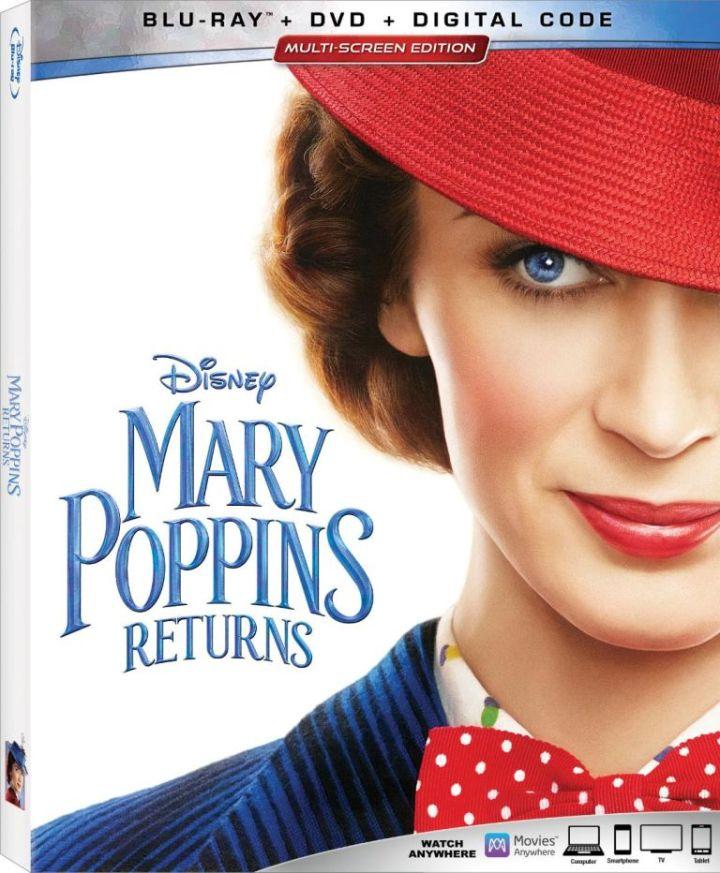 Mary Poppins Blu-ray Box Art