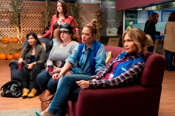 Dierdre Friel, Leah Remini, and Jennifer Lopez star in SECOND ACT.