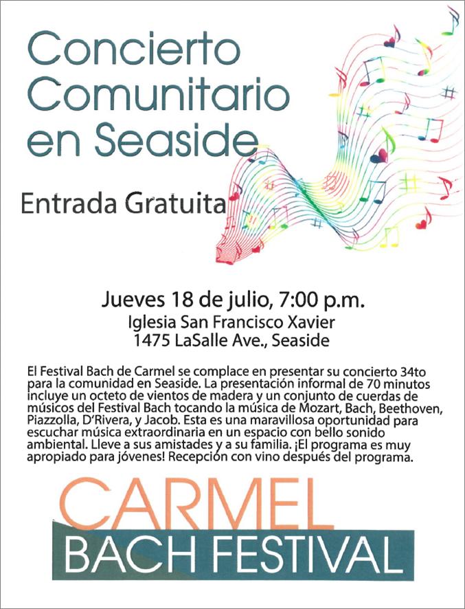 Carmel Bach Concierto Comunitario