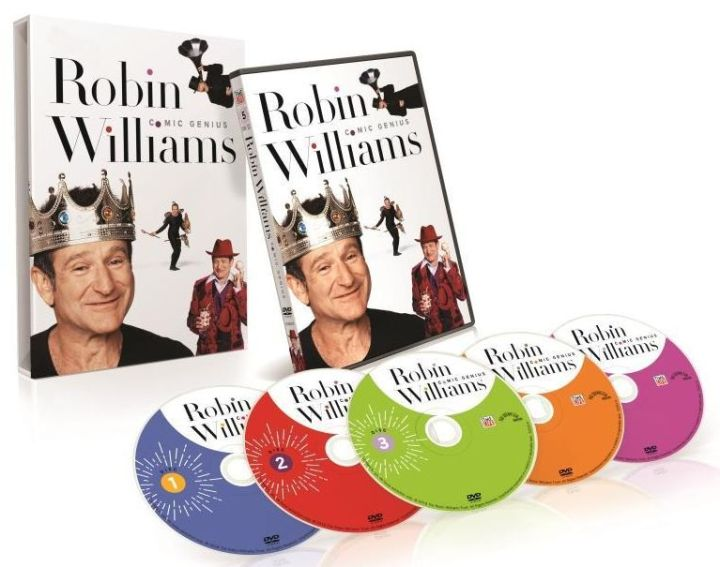 ROBIN WILLIAMS 5DVD Set Product Shot.SMALL